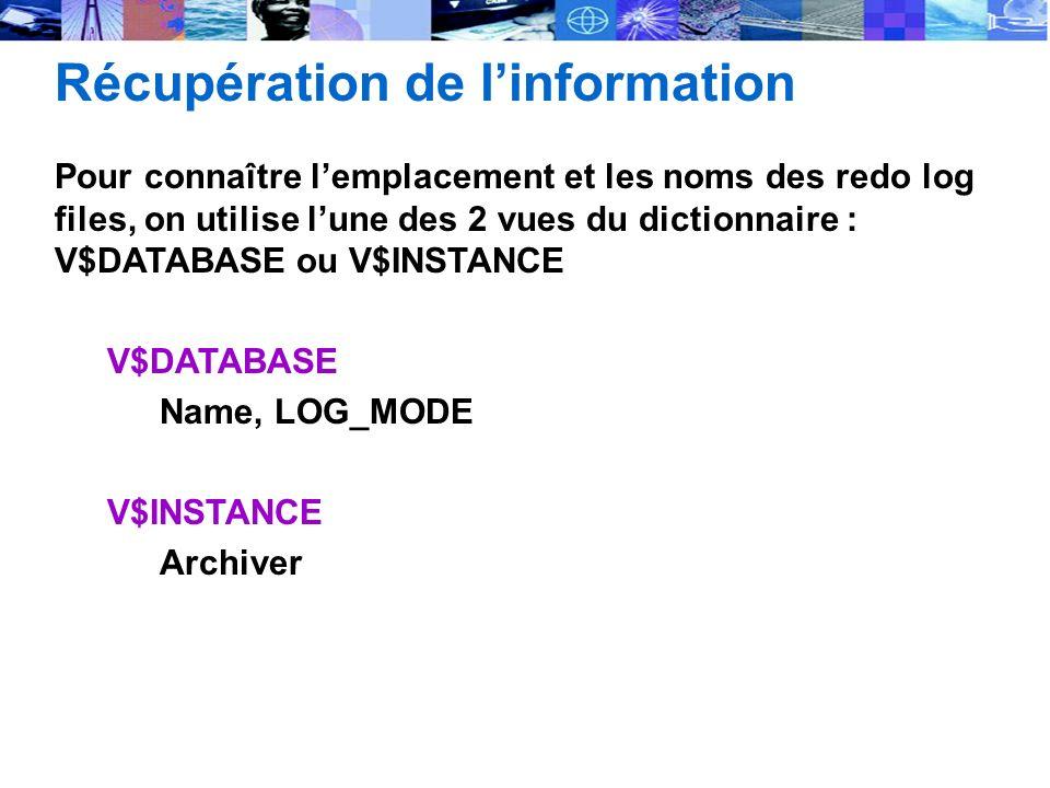 Récupération de l'information