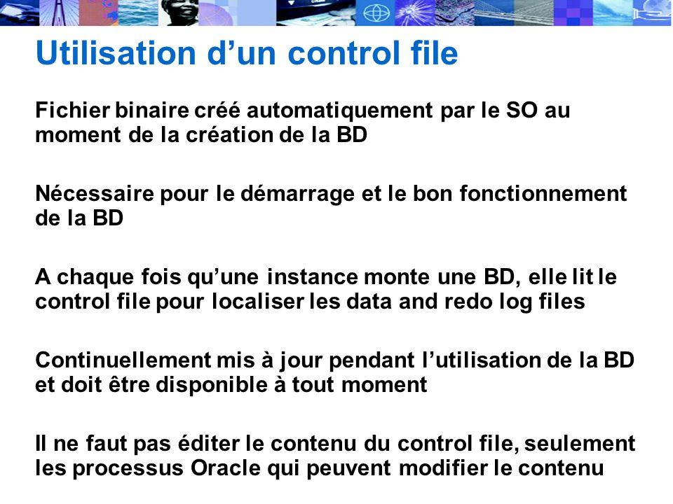 Utilisation d'un control file