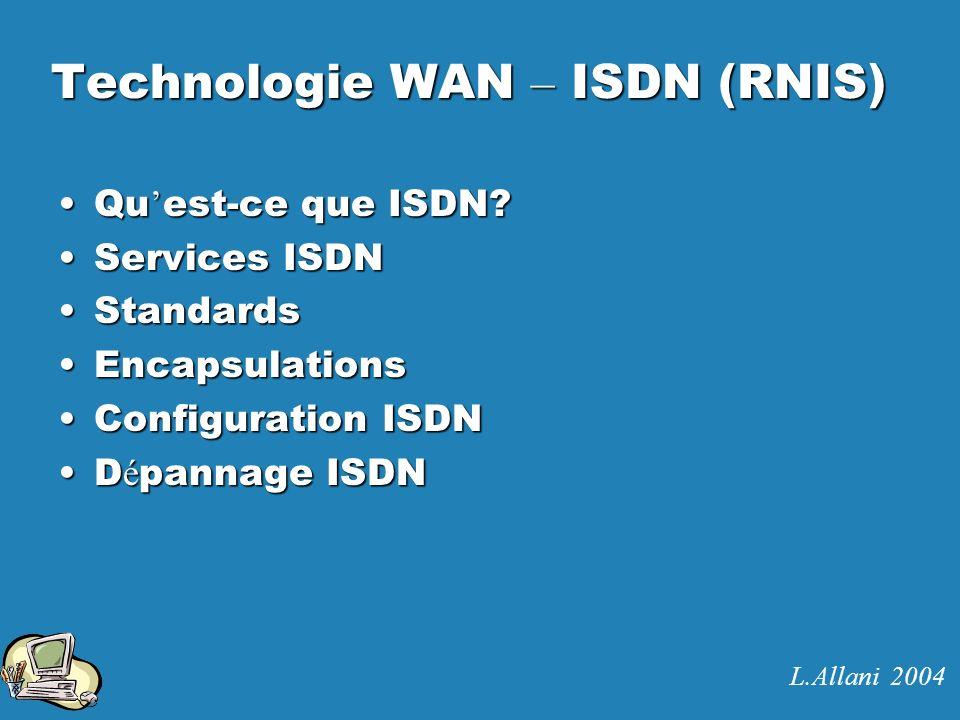 Technologie WAN – ISDN (RNIS)