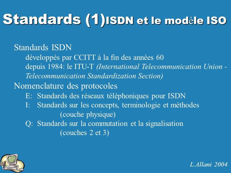 Standards (1)ISDN et le modèle ISO