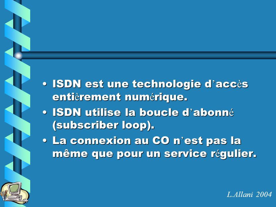 ISDN est une technologie d'accès entièrement numérique.