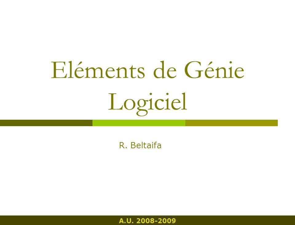 Eléments de Génie Logiciel