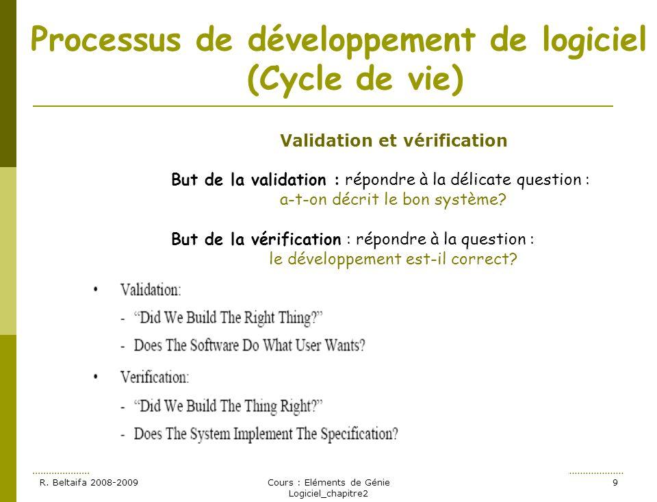 Processus de développement de logiciel (Cycle de vie)