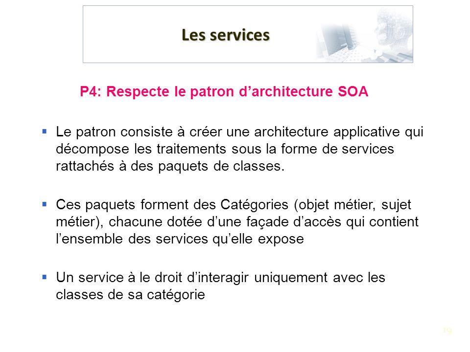 P4: Respecte le patron d'architecture SOA