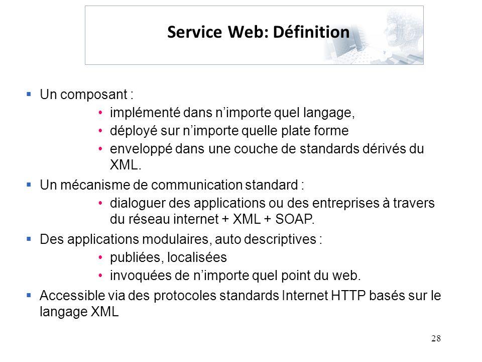 Service Web: Définition