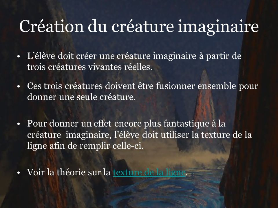 Création du créature imaginaire