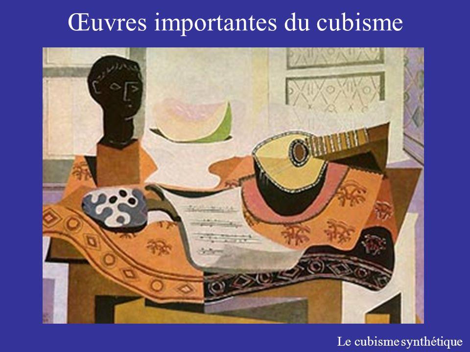 Œuvres importantes du cubisme