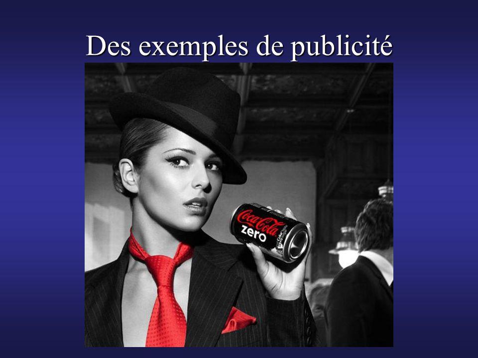 Des exemples de publicité