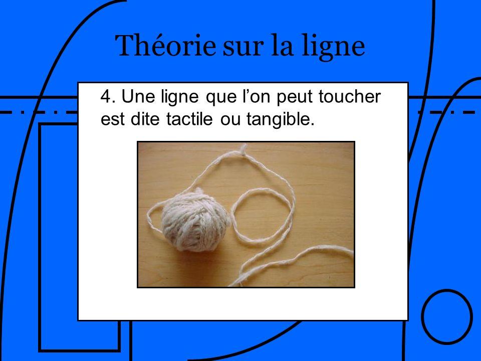 Théorie sur la ligne 4. Une ligne que l'on peut toucher est dite tactile ou tangible.