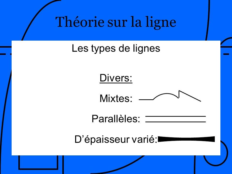 Théorie sur la ligne ____________ Les types de lignes Divers: Mixtes:
