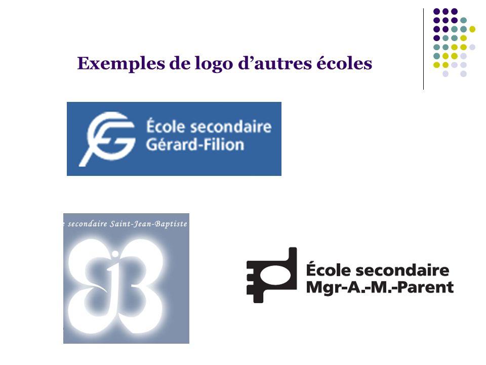 Exemples de logo d'autres écoles