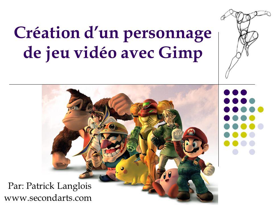 Création d'un personnage de jeu vidéo avec Gimp