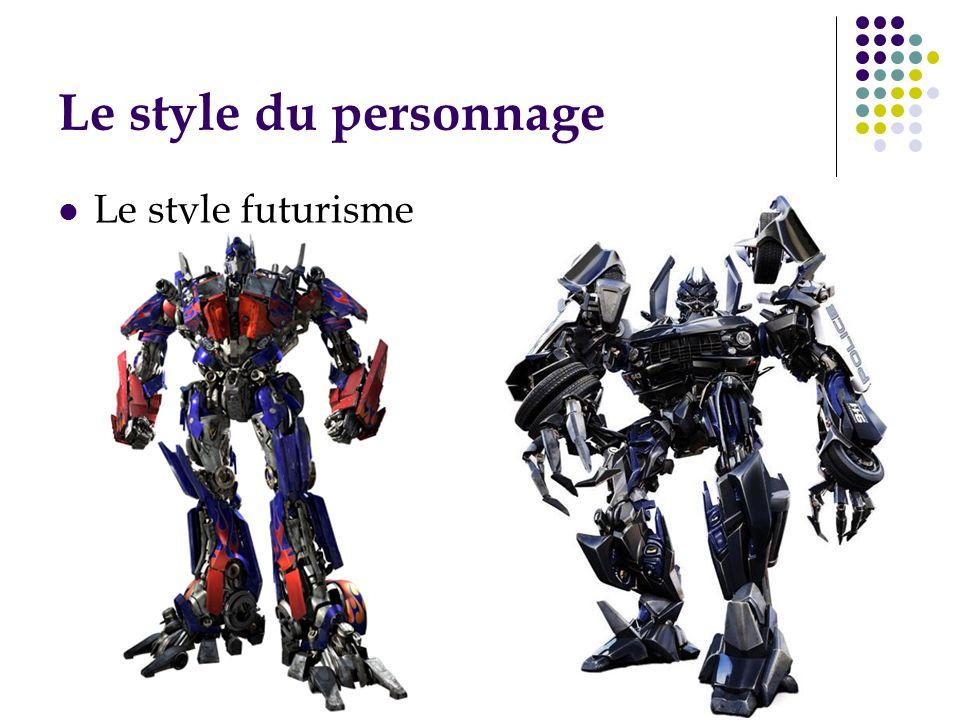 Le style du personnage Le style futurisme