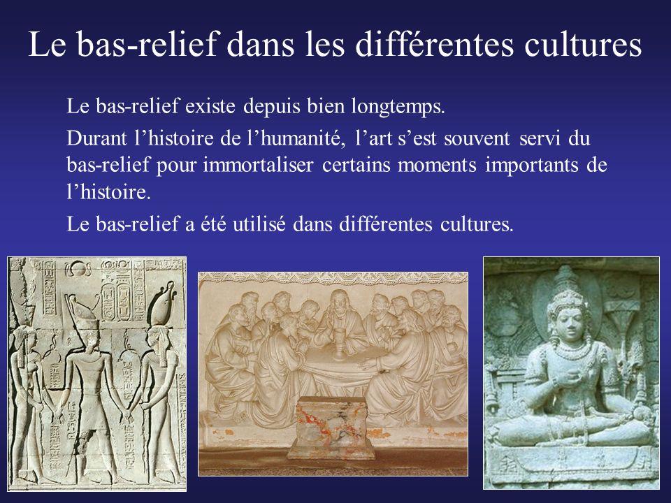 Le bas-relief dans les différentes cultures