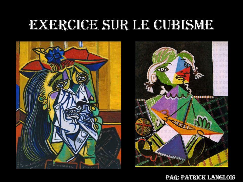 Exercice sur le cubisme