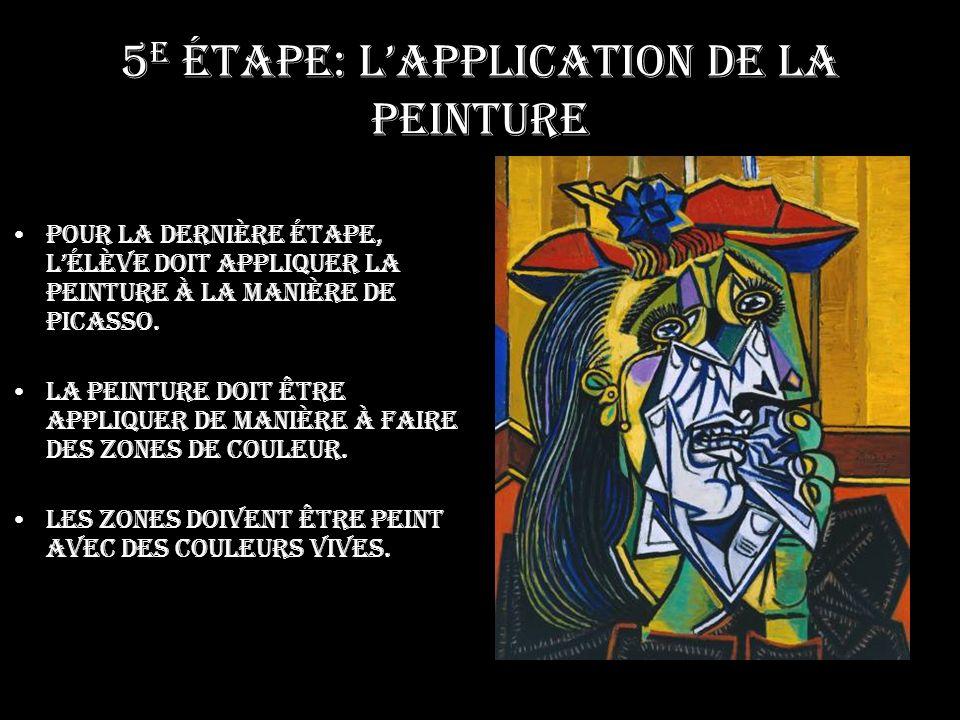 5e étape: L'application de la peinture