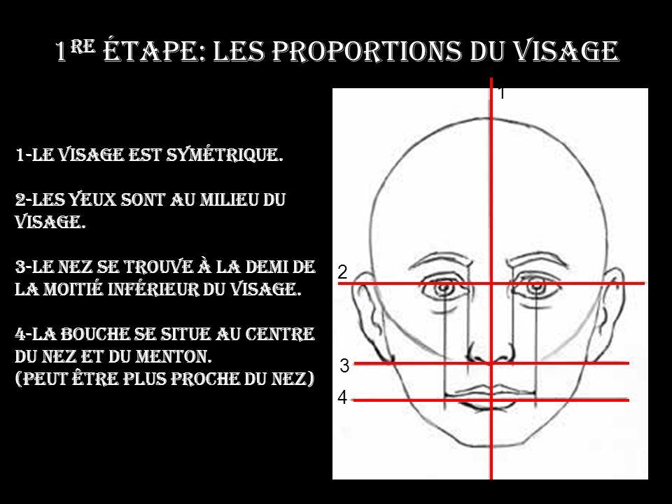1re étape: Les proportions du visage