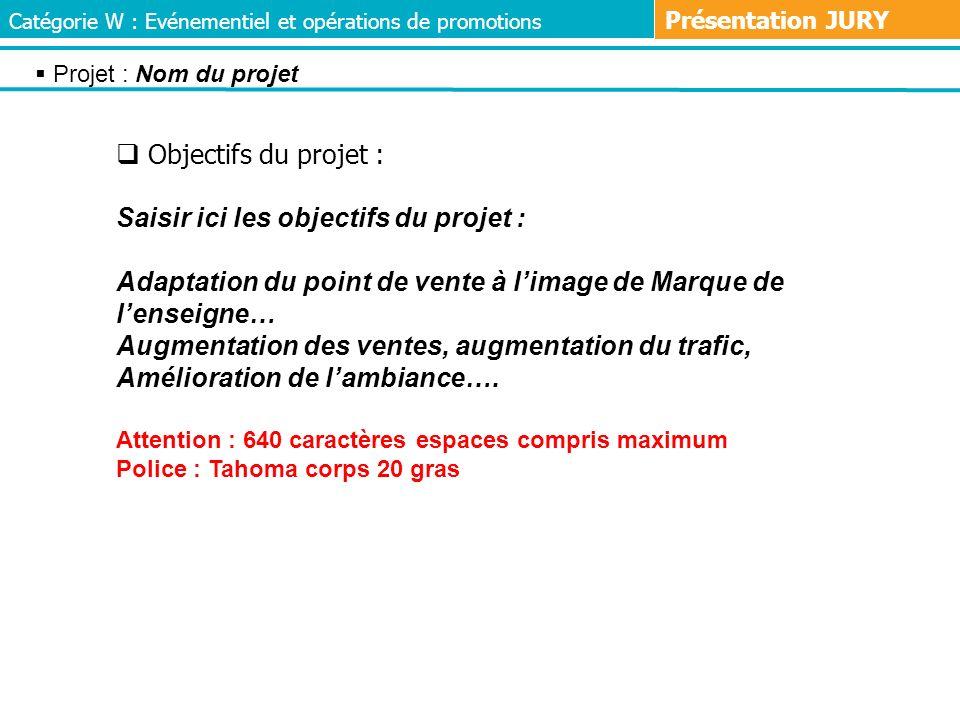 Saisir ici les objectifs du projet :