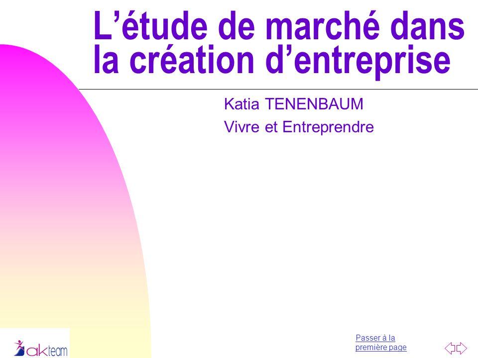 L'étude de marché dans la création d'entreprise