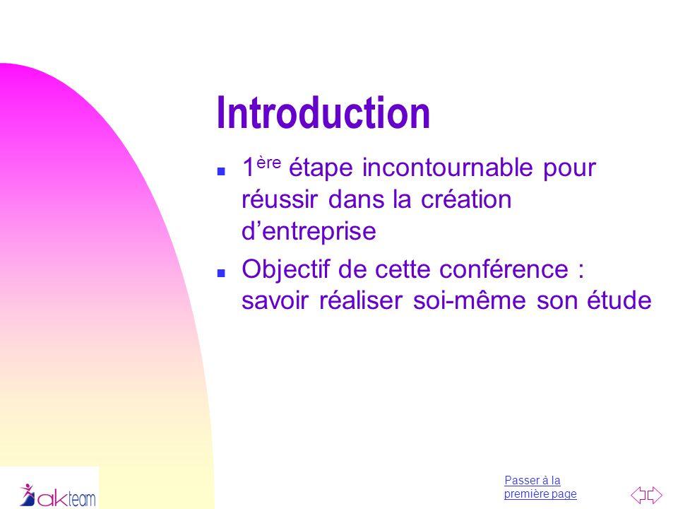 Introduction 1ère étape incontournable pour réussir dans la création d'entreprise.