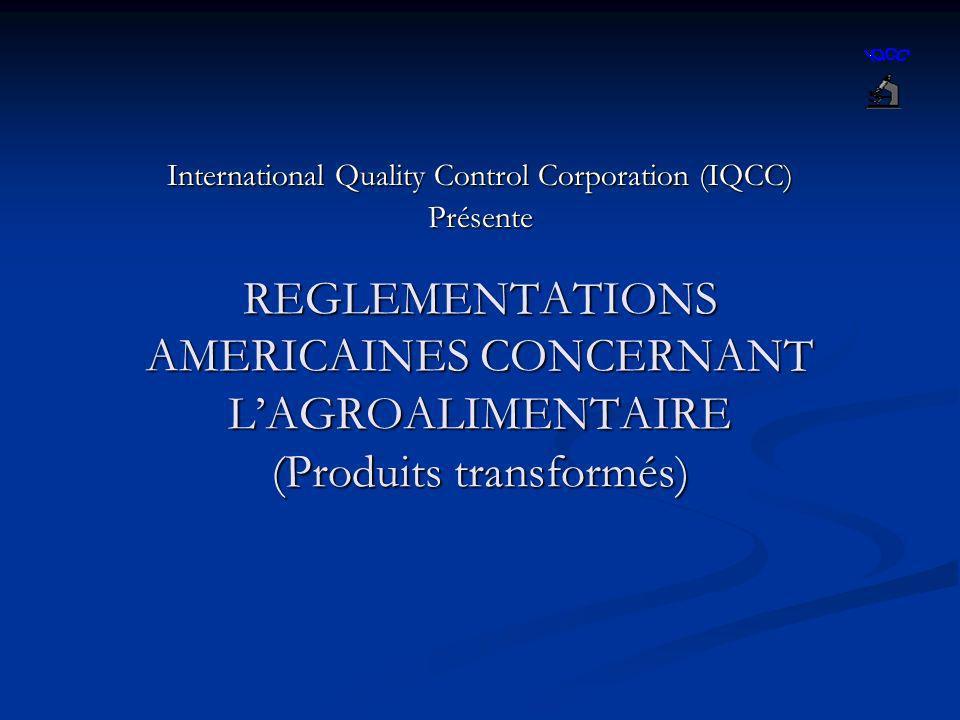 International Quality Control Corporation (IQCC) Présente
