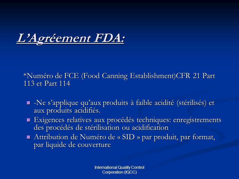 International Quality Control Corporation (IQCC)