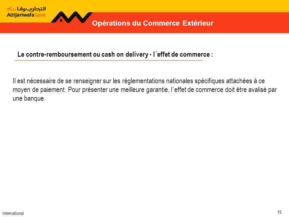 Opérations du Commerce Extérieur