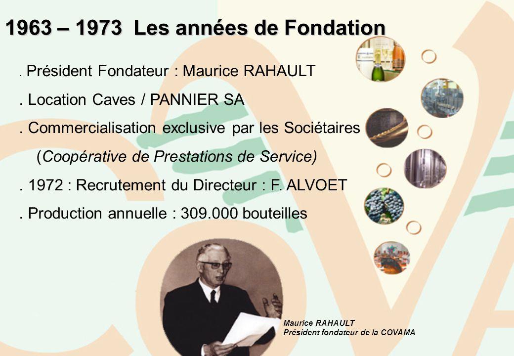 1963 – 1973 Les années de Fondation