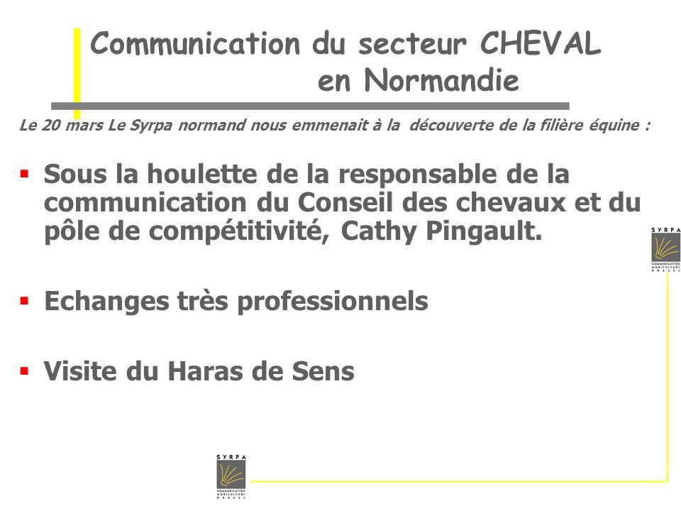 Communication du secteur CHEVAL en Normandie