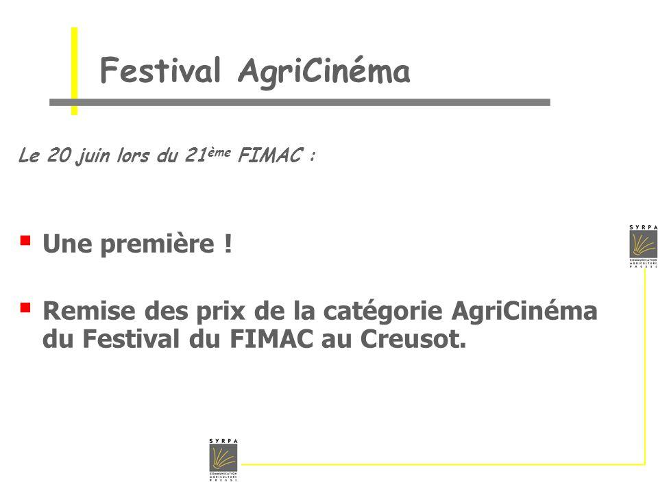 Festival AgriCinéma Une première !