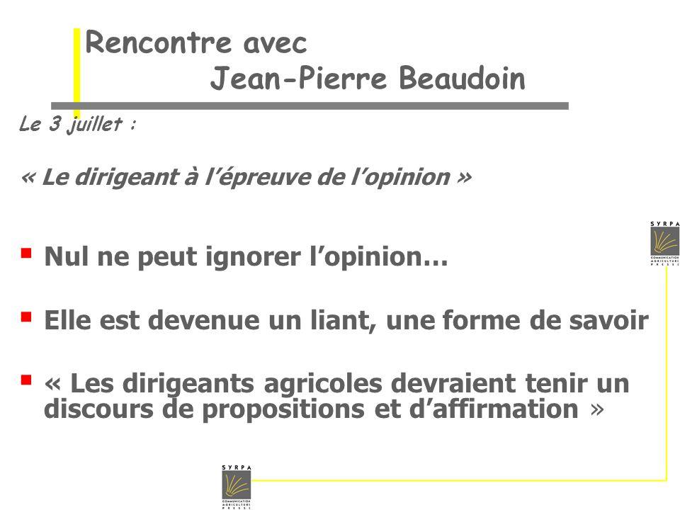 Rencontre avec Jean-Pierre Beaudoin