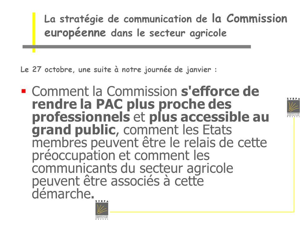 La stratégie de communication de la Commission européenne dans le secteur agricole