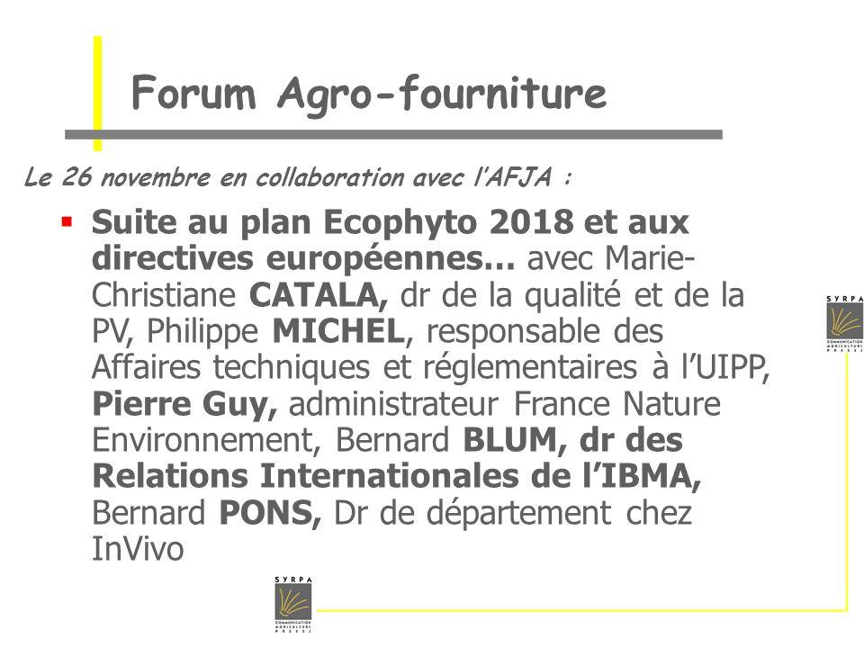 Forum Agro-fourniture