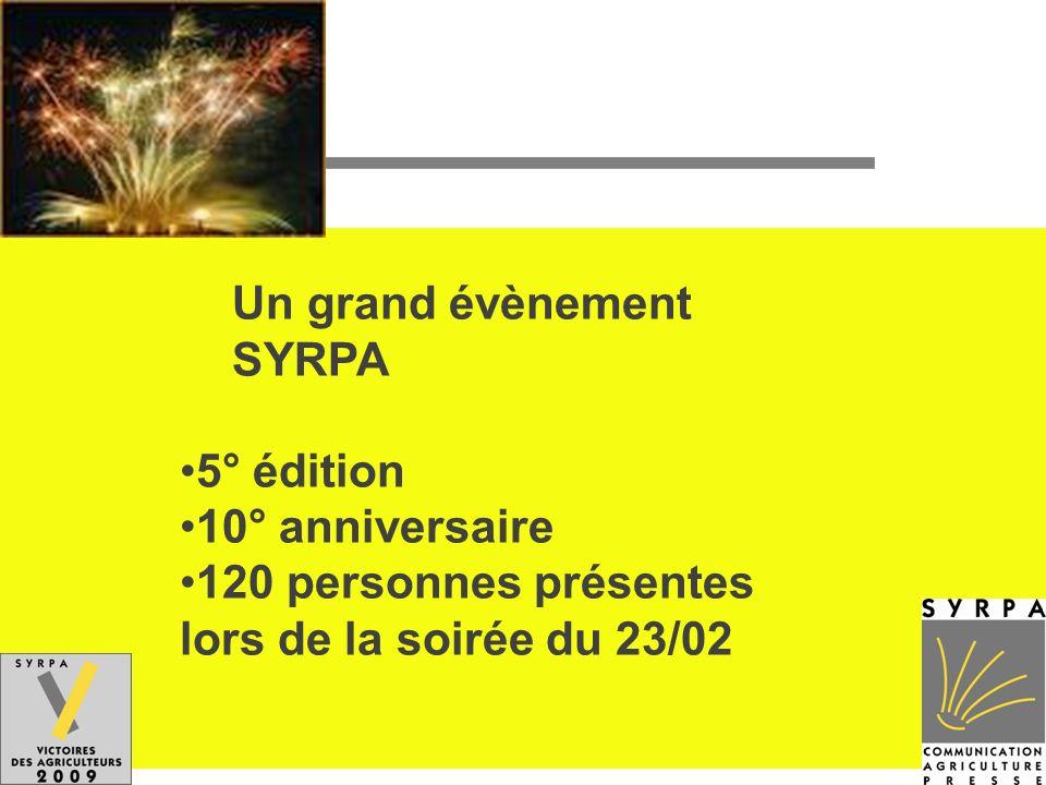 Un grand évènement SYRPA