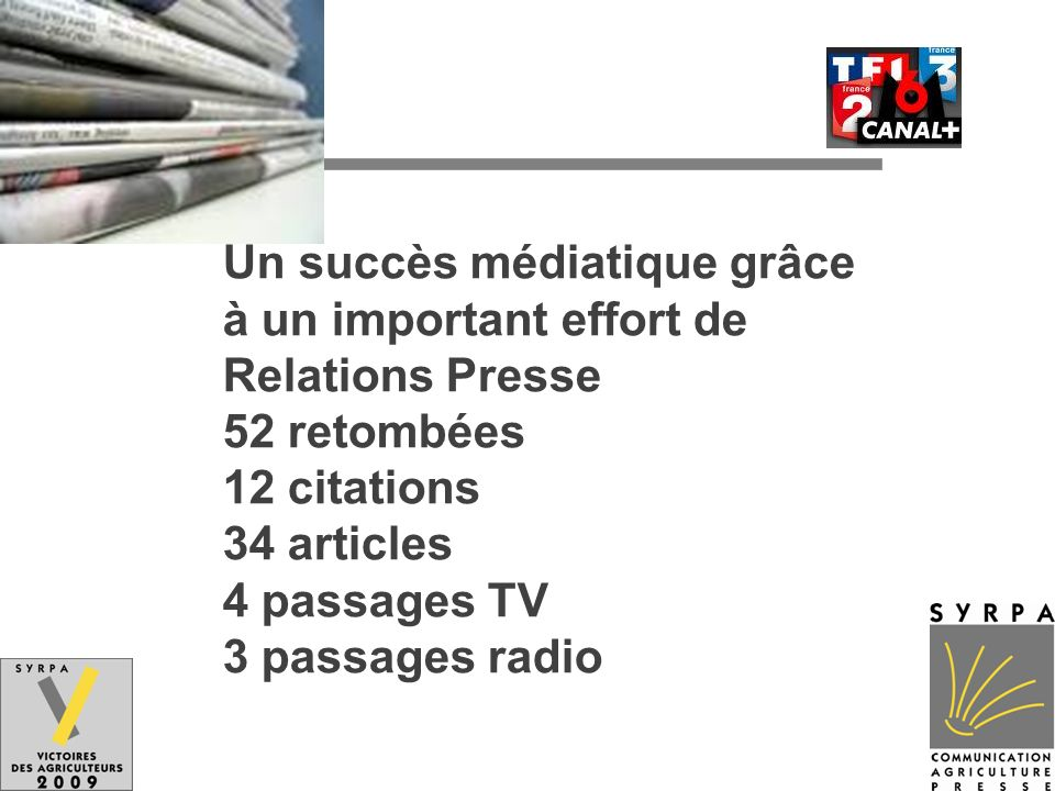 Un succès médiatique grâce à un important effort de Relations Presse