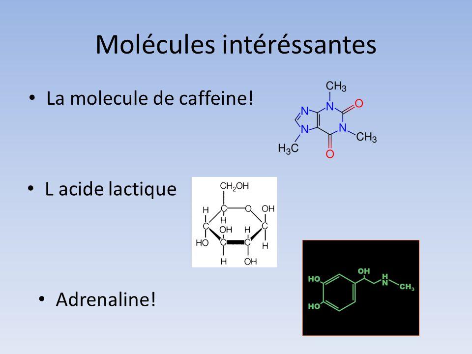 Molécules intéréssantes