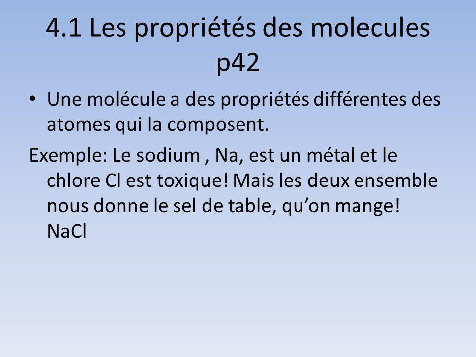 4.1 Les propriétés des molecules p42