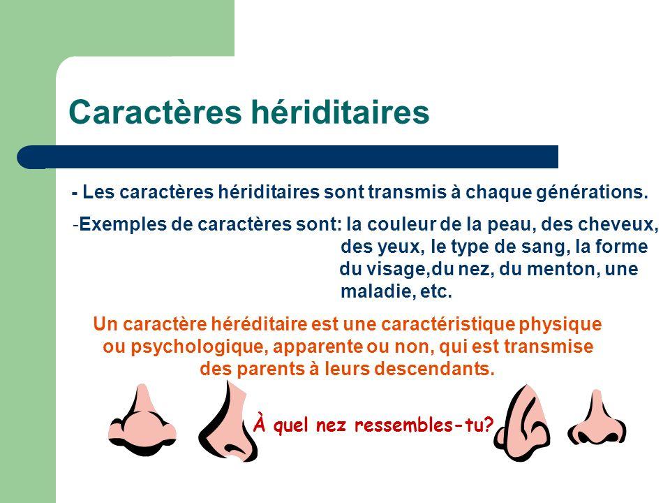 Caractères hériditaires