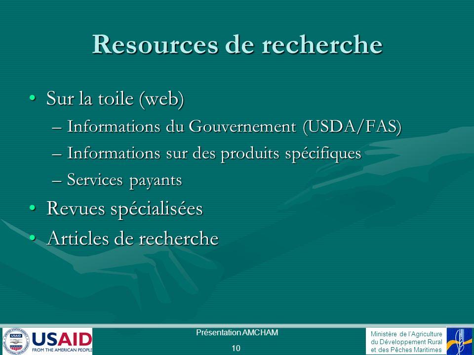 Resources de recherche