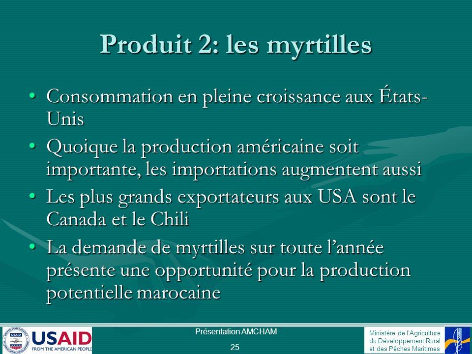Produit 2: les myrtilles