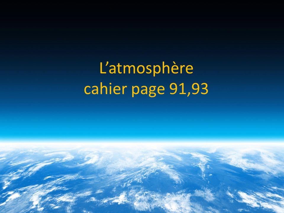 L'atmosphère cahier page 91,93