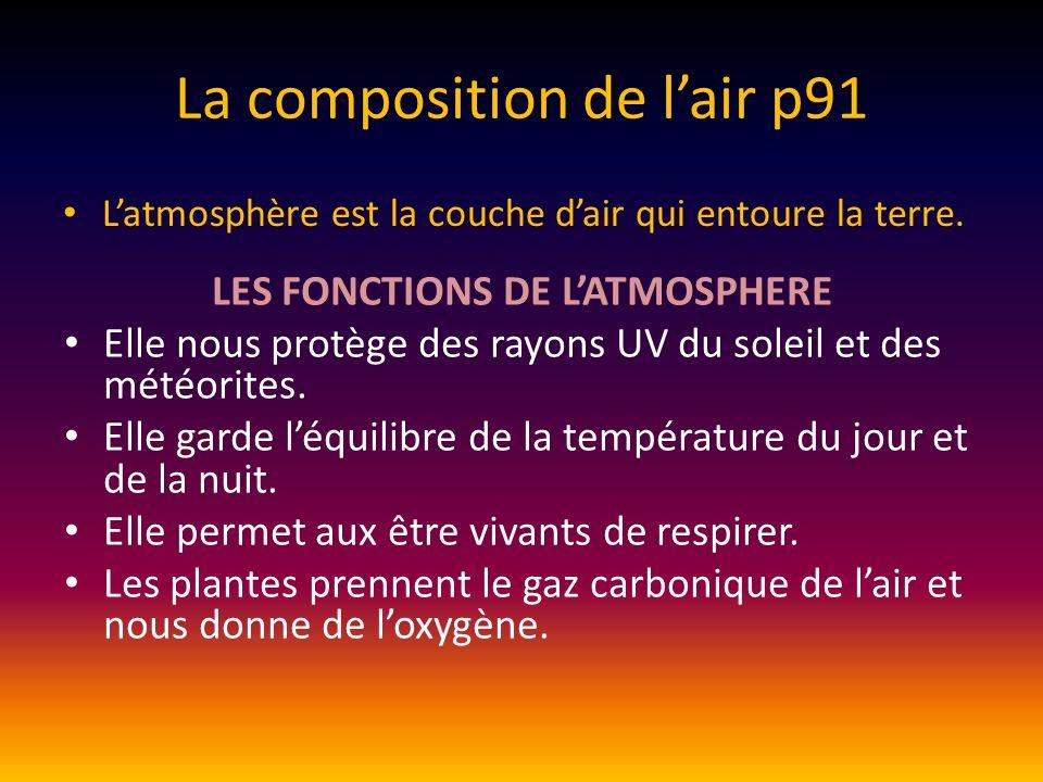 La composition de l'air p91