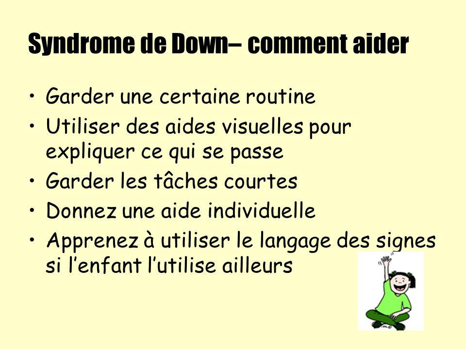 Syndrome de Down– comment aider