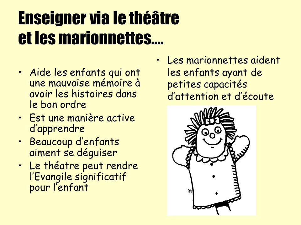 Enseigner via le théâtre et les marionnettes….