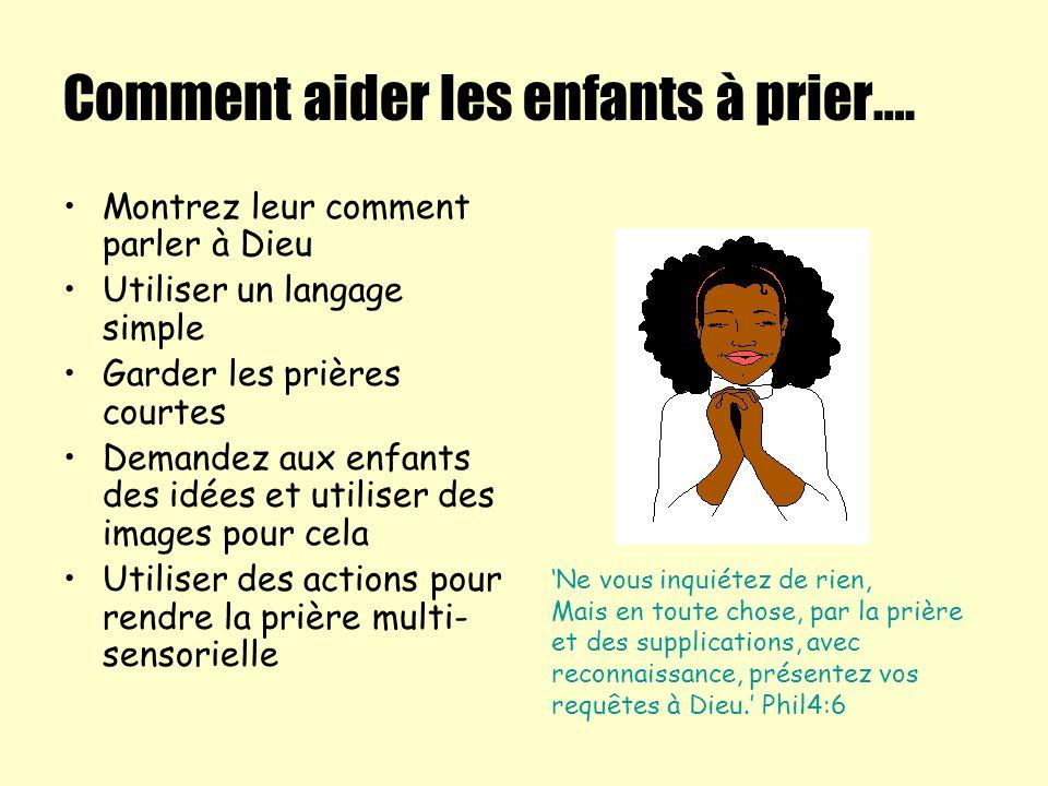 Comment aider les enfants à prier….
