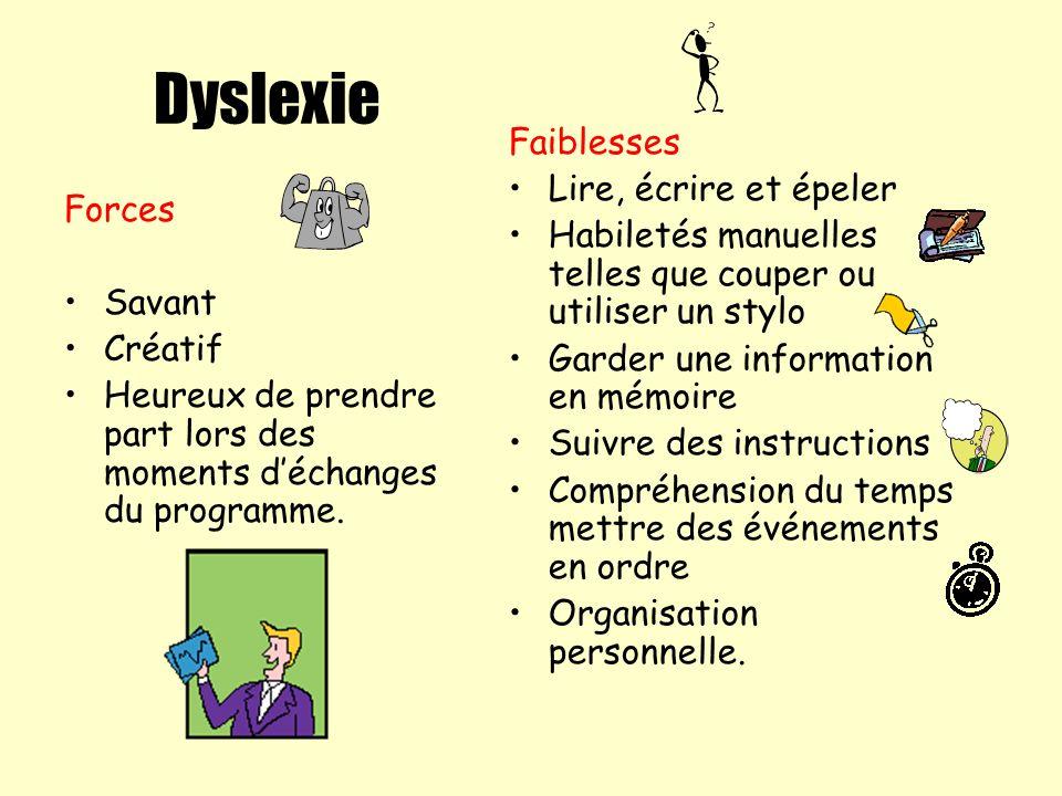 Dyslexie Faiblesses Lire, écrire et épeler