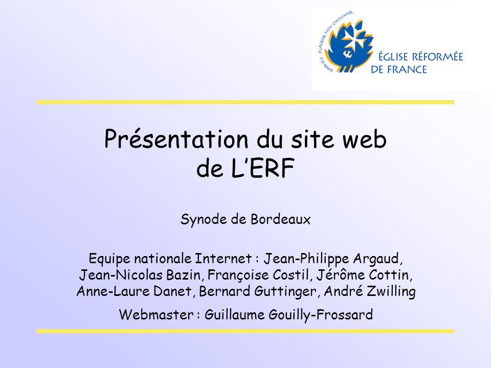 Présentation du site web de L'ERF