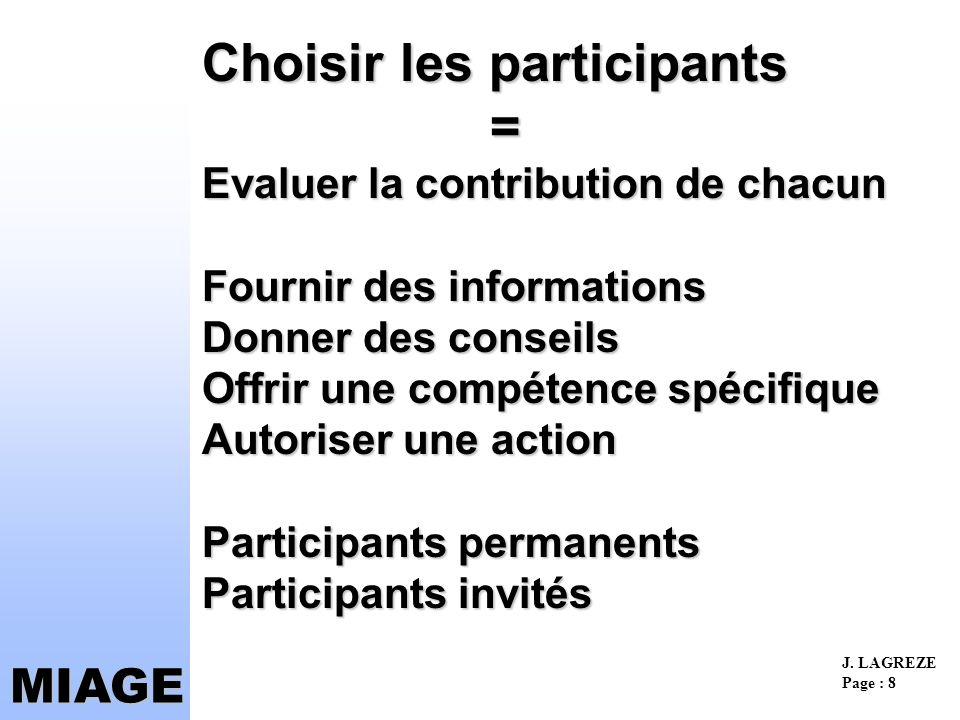Choisir les participants