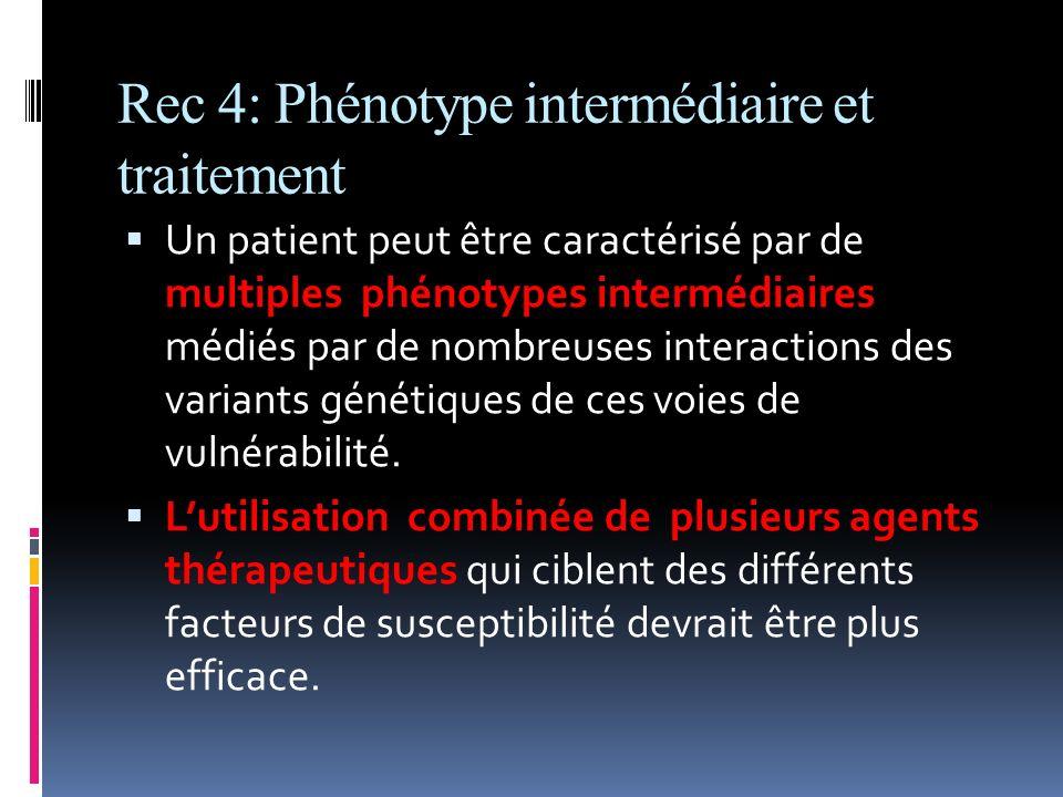 Rec 4: Phénotype intermédiaire et traitement