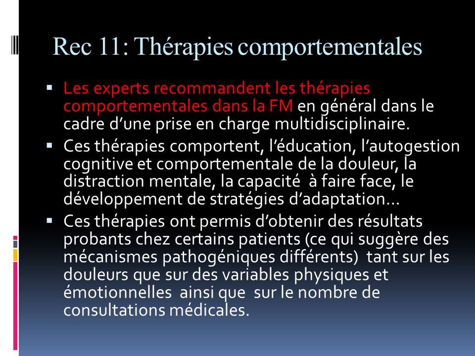 Rec 11: Thérapies comportementales